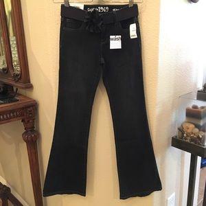 NWT~GAPKIDS Charcoal Black Skinny Flare Jeans 10Yr